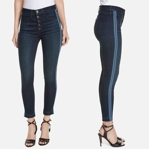 """Veronica Beard Debbie 10"""" Skinny Jeans Tux Stripe"""